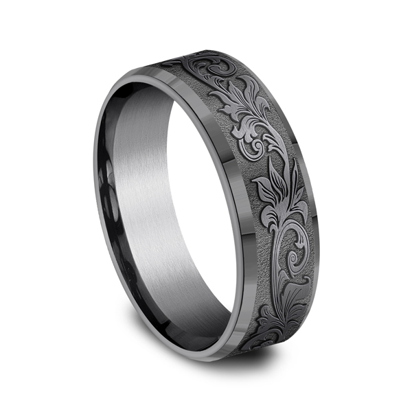 Tantalum Comfort-fit wedding band Image 2 Confer's Jewelers Bellefonte, PA