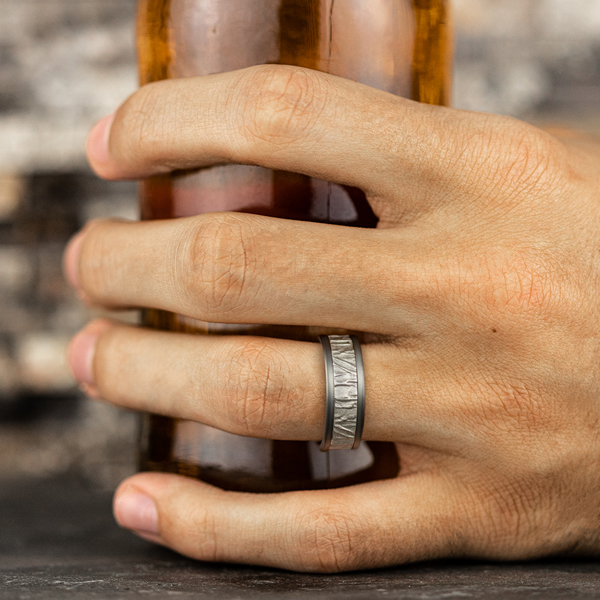 Ammara Stone Comfort-fit Design Wedding Band Image 5 Confer's Jewelers Bellefonte, PA