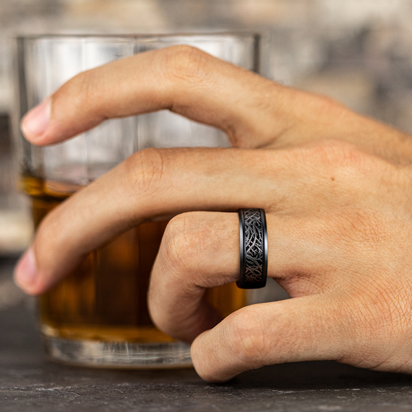 Tantalum and Black Titanium Comfort-fit Design Wedding Band Image 5 Confer's Jewelers Bellefonte, PA