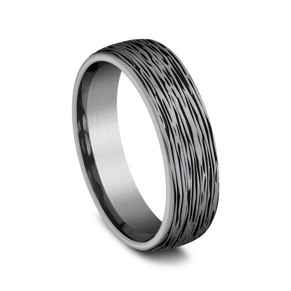 Grey Tantalum Comfort-fit wedding band Image 2 Mark Allen Jewelers Santa Rosa, CA