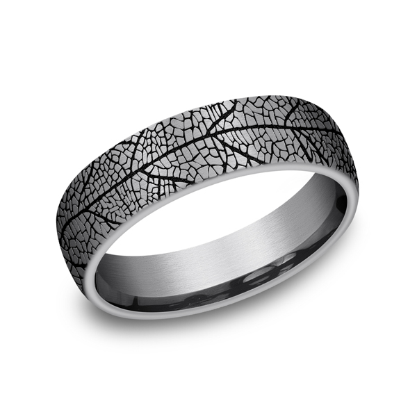 Grey Tantalum Comfort-fit wedding band Mark Allen Jewelers Santa Rosa, CA