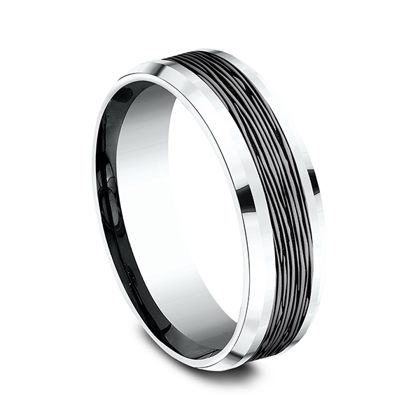 Ammara Stone Comfort-fit Design Wedding Ring Image 2 Mark Allen Jewelers Santa Rosa, CA