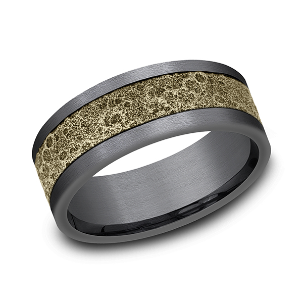 Ammara Stone Comfort-fit Design Wedding Band Holliday Jewelry Klamath Falls, OR