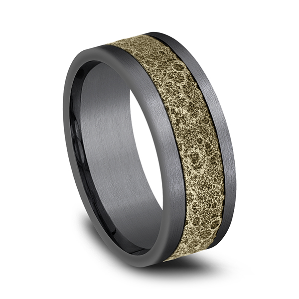 Ammara Stone Comfort-fit Design Wedding Band Image 2 Mitchell's Jewelry Norman, OK
