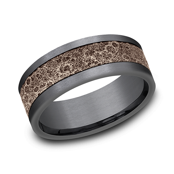 Wedding Bands - Ammara Stone Comfort-fit Design Wedding Band