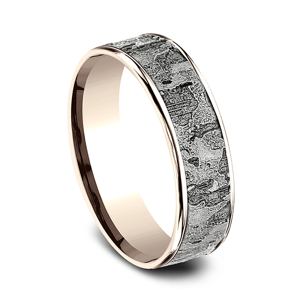 Two Tone Comfort-Fit Design Wedding Ring Image 2 Geoffreys Diamonds & Goldsmith San Carlos, CA
