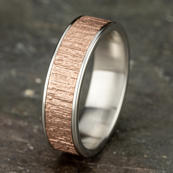 Two Tone Comfort-Fit Design Wedding Ring Image 4 Confer's Jewelers Bellefonte, PA