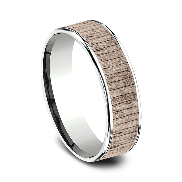 Two Tone Comfort-Fit Design Wedding Ring Image 2 Rialto Jewelry San Antonio, TX