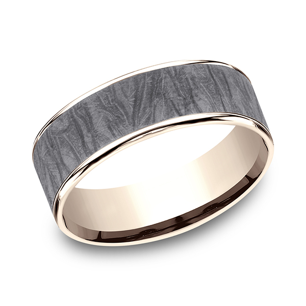 Ammara Stone Comfort-fit Design Wedding Band Mitchell's Jewelry Norman, OK