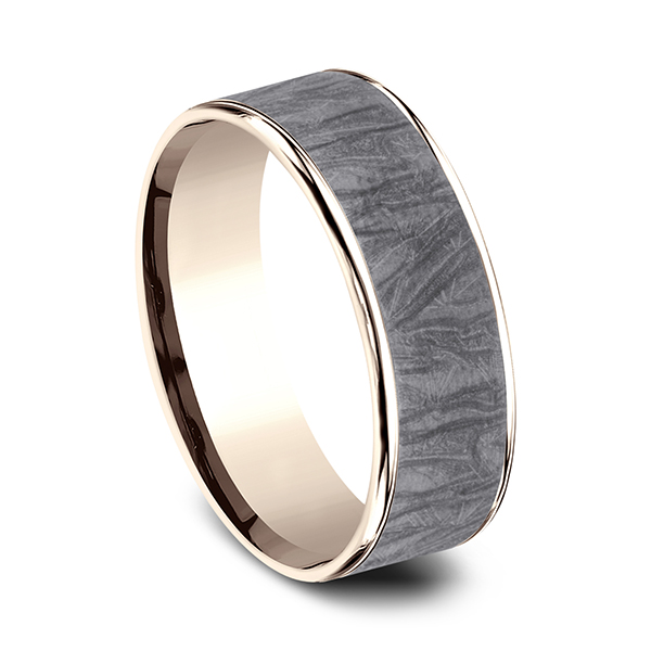 Ammara Stone Comfort-fit Design Wedding Band Image 2 Rick's Jewelers California, MD