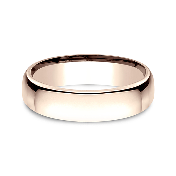 European Comfort-Fit Wedding Ring Image 3 Geoffreys Diamonds & Goldsmith San Carlos, CA