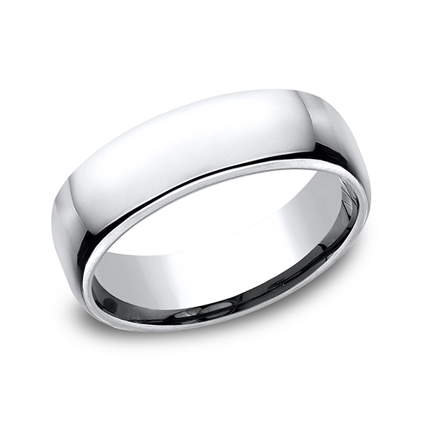 Cobalt European Comfort-Fit Design Wedding Band by Forge