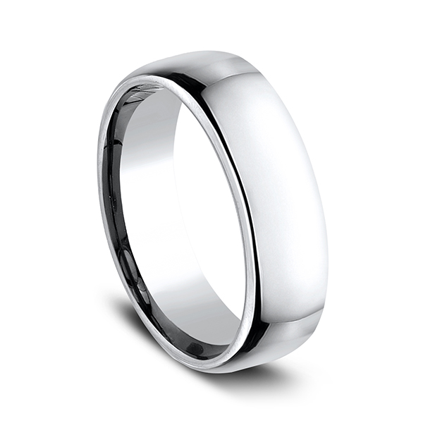 Cobalt European Comfort-Fit Design Wedding Band Image 2  ,