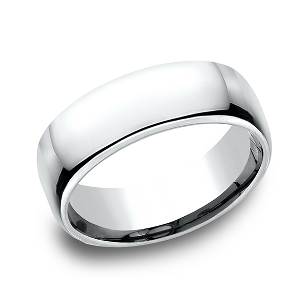 Gold/platinum/palladium Wedding Bands - European Comfort-Fit Ring - image #3