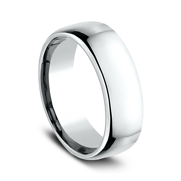 Gold/platinum/palladium Wedding Bands - European Comfort-Fit Ring - image #2