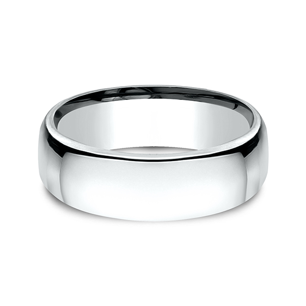 European Comfort-Fit Wedding Ring Image 3  ,