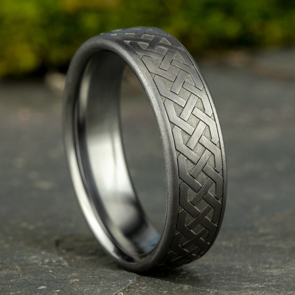 Tantalum Comfort-fit wedding band Image 4 Rick's Jewelers California, MD