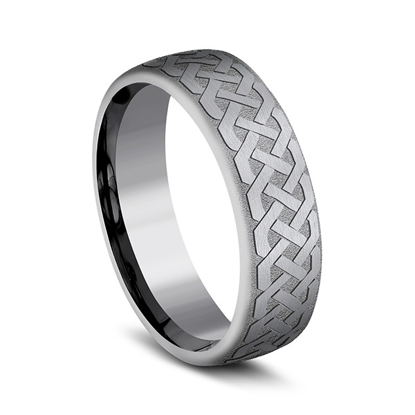 Tantalum Comfort-fit wedding band Image 2 Rick's Jewelers California, MD