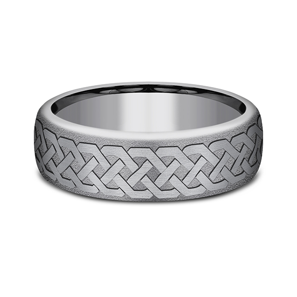 Tantalum Comfort-fit wedding band Image 3 Rick's Jewelers California, MD
