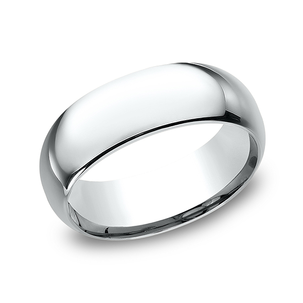 Men's Wedding Bands - Standard Comfort-Fit Ring - image #3