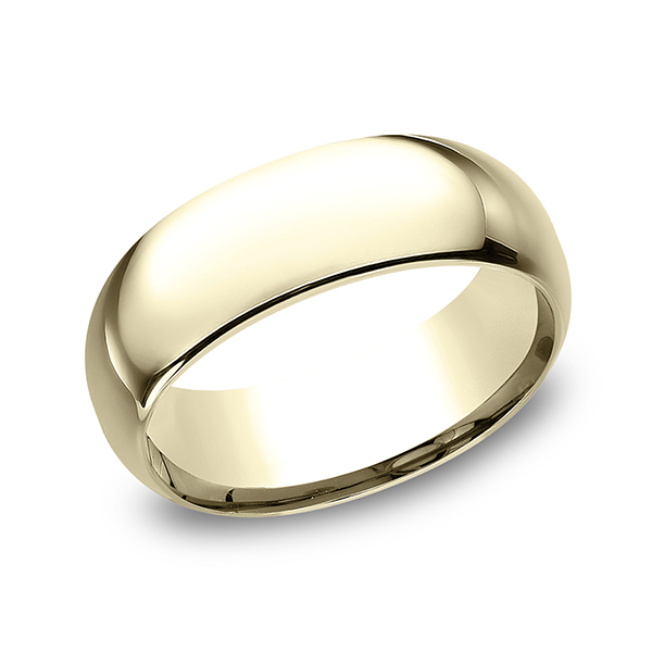 Men's Wedding Bands - Standard Comfort-Fit Ring - image 3