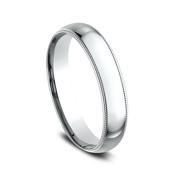 Men's Wedding Bands - Milgrain Standard Comfort Fit Ring - image 2