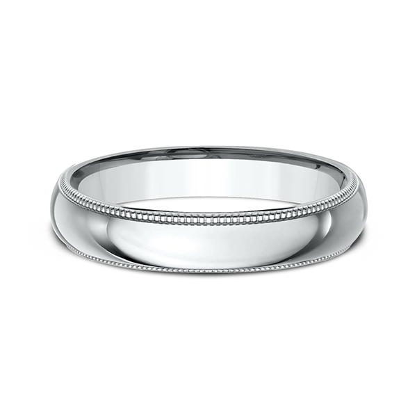 Men's Wedding Bands - Milgrain Standard Comfort Fit Ring - image 3