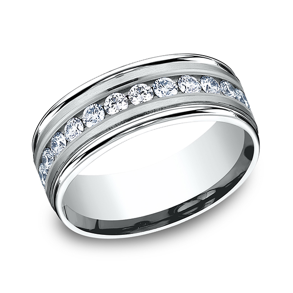 Comfort-Fit Diamond Wedding Band Simones Jewelry, LLC Shrewsbury, NJ