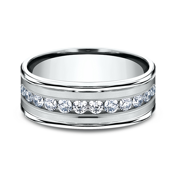 Comfort-Fit Diamond Wedding Band Image 3  ,