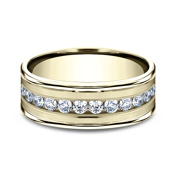 Comfort-Fit Diamond Wedding Band Image 3 Confer's Jewelers Bellefonte, PA