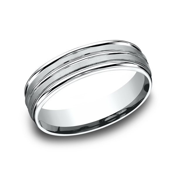 Comfort-Fit Design Wedding Ring Geoffreys Diamonds & Goldsmith San Carlos, CA