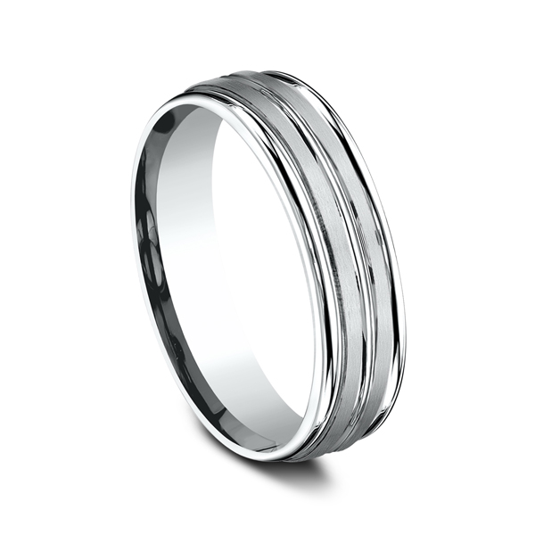 Comfort-Fit Design Wedding Ring Image 2 Geoffreys Diamonds & Goldsmith San Carlos, CA