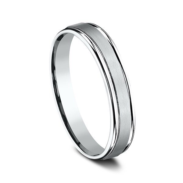 Comfort-Fit Design Wedding Band Image 2 Geoffreys Diamonds & Goldsmith San Carlos, CA