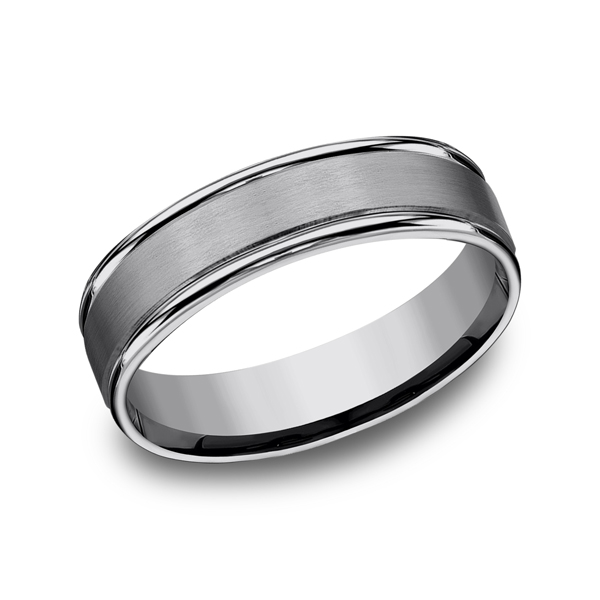 Tungsten Comfort-Fit Design Wedding Band Mark Allen Jewelers Santa Rosa, CA