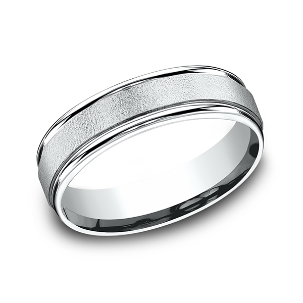 Mens Bands - Comfort-Fit Design Ring - image #3