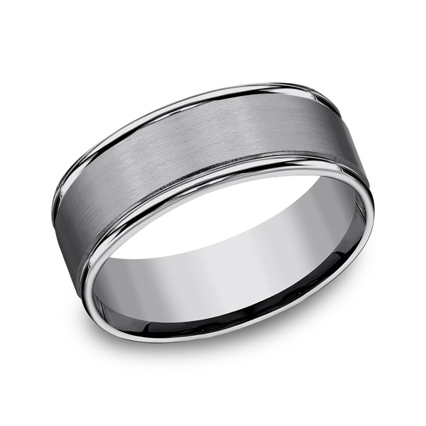 Tungsten Comfort-Fit Design Wedding Band The Stone Jewelers Boone, NC