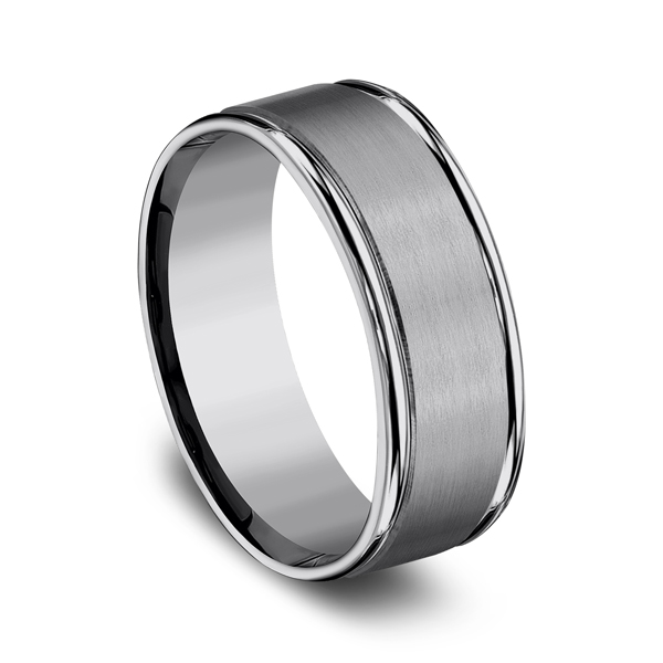 Tungsten Comfort-Fit Design Wedding Band Image 2 The Stone Jewelers Boone, NC