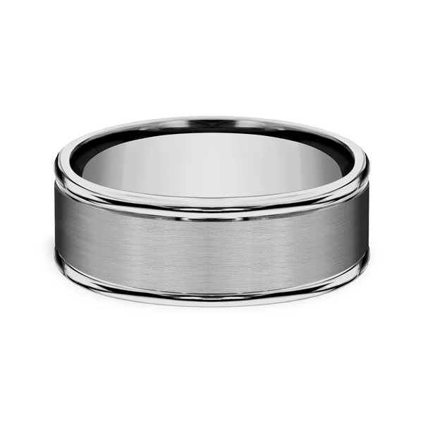 Tungsten Comfort-Fit Design Wedding Band Image 3 Mark Allen Jewelers Santa Rosa, CA