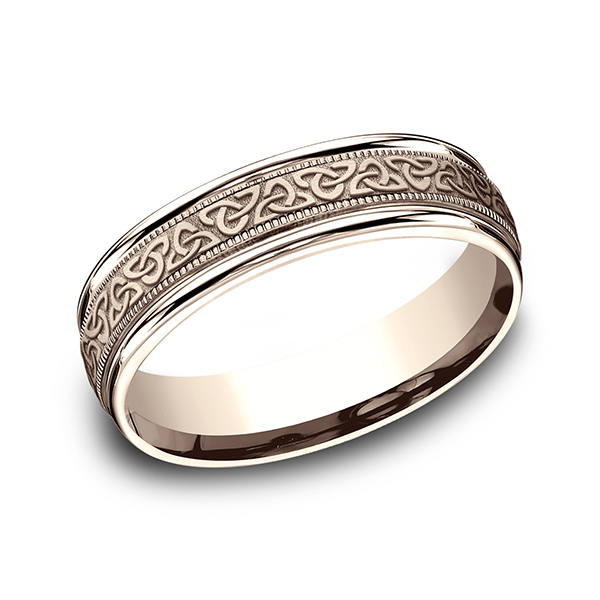 Gold/platinum/palladium Wedding Bands - Comfort-Fit Design Ring - image 3
