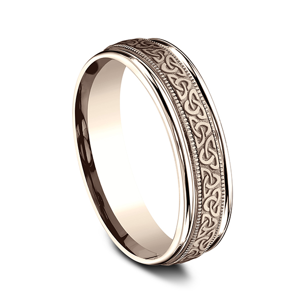 Men's Wedding Bands - Comfort-Fit Design Wedding Band - image 2
