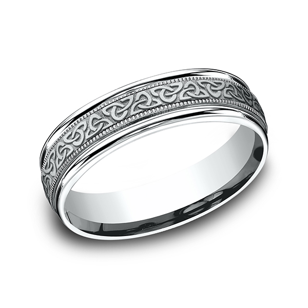 Wedding Rings - Comfort-Fit Design Ring - image 3
