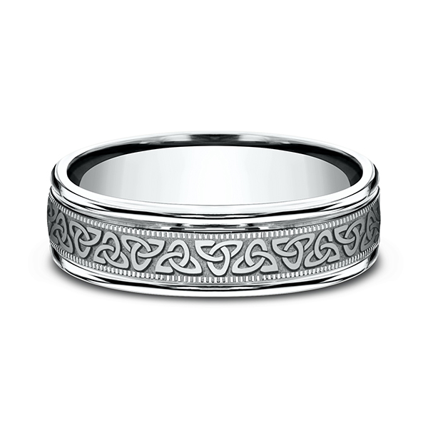 Wedding Rings - Comfort-Fit Design Wedding Band - image 3