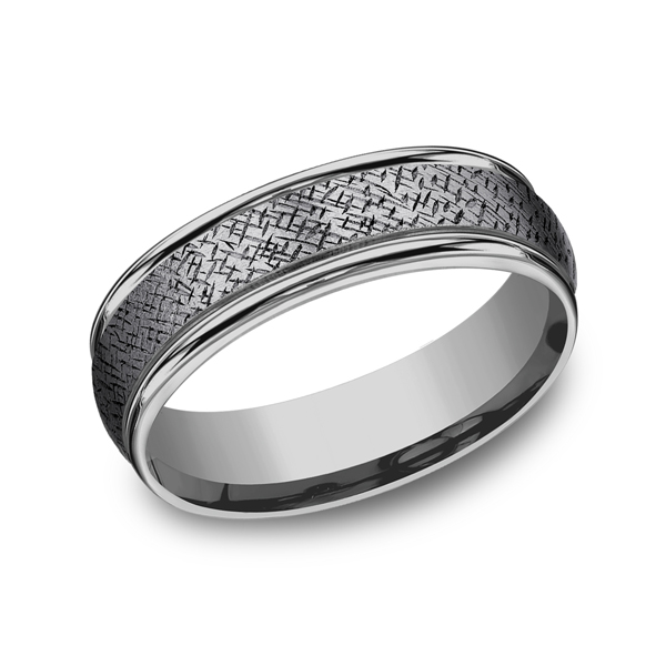 Tantalum Comfort-fit wedding band Heller Jewelers San Ramon, CA