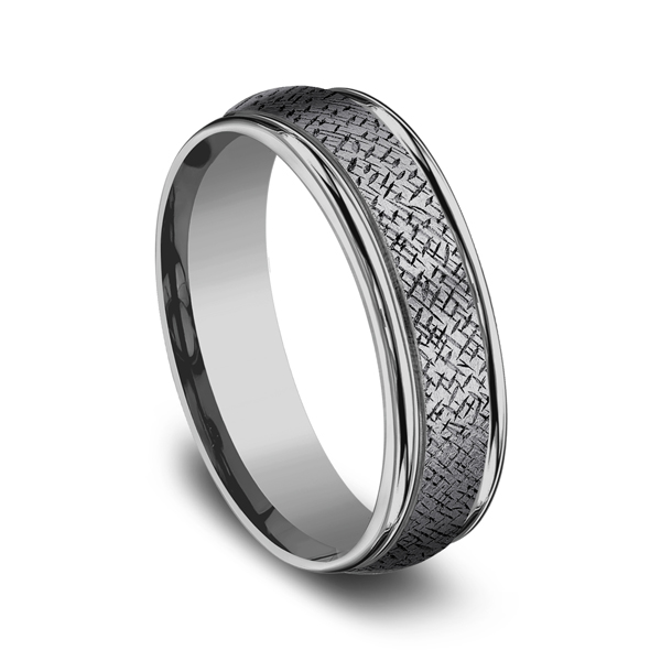 Tantalum Comfort-fit wedding band Image 2 Miner's North Jewelers Traverse City, MI