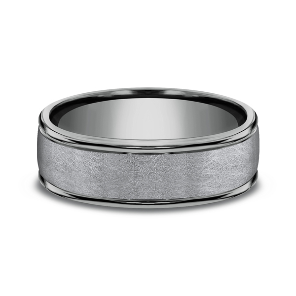 Grey Tantalum Comfort-fit wedding band Image 3 Confer's Jewelers Bellefonte, PA