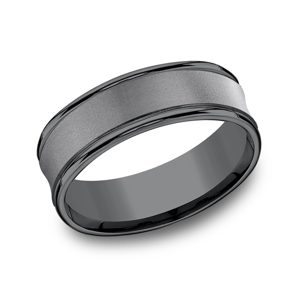 Tantalum Comfort-Fit wedding band Mitchell's Jewelry Norman, OK