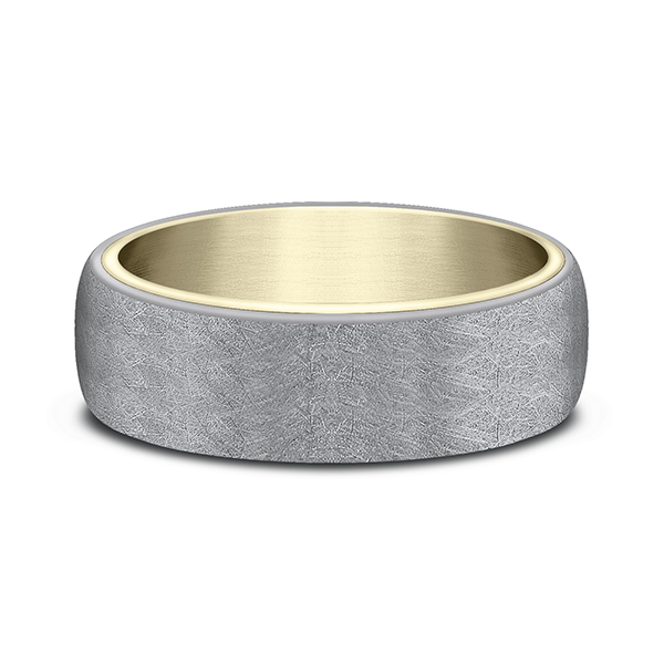 Ammara Stone Comfort-fit Design Wedding Ring Image 3 Rick's Jewelers California, MD