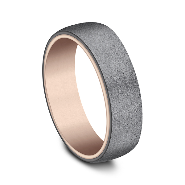 Gold/platinum/palladium Wedding Bands - Ammara Stone Comfort-fit Design Wedding Ring - image 2