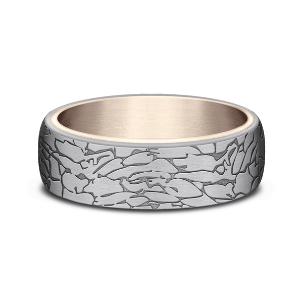 Ammara Stone Comfort-fit Design Wedding Ring Image 3  ,