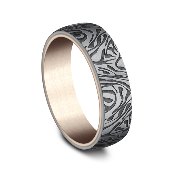 Ammara Stone Comfort-fit Design Wedding Ring Image 2  ,